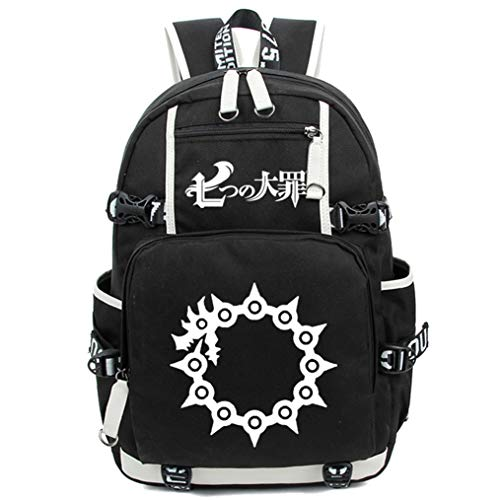 Cosstars The Seven Deadly Sins Anime Luminoso Mochilas de a Diario Backpack Bolso de Escuela