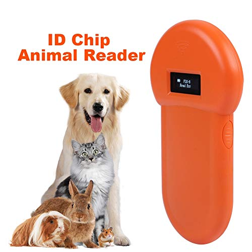 Jacksking Tier-Leser, 134,2 kHz LCD-ISO-ID-Chip Tier-Leser-RFID-Hundemikrochip-Handhaustierscanner, Haustierscanner