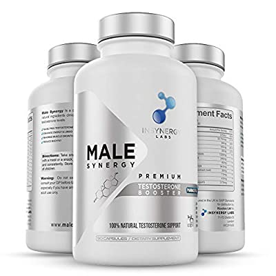 Ultra Premium Testosterone Booster for Men | Male Synergy | The UK's No1 Male Formula | 100% Natural Ingredients | 120 Capsules | Reduce Fatigue & Increase Energy Levels by Insynergy Labs