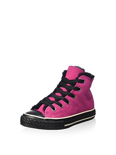 Converse Sneaker Alta all Star Hi Suede Shearling Fucsia/Nero EU 29