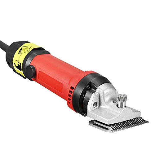 DNYSYSJ Professional Horse Clippers,Electric Animal Grooming Clippers Set for Horse Cattle Sheep Large Thick Coat Dogs,Heavy Duty Farm Livestock Haircut Trimmer 6 speeds 110V 350W