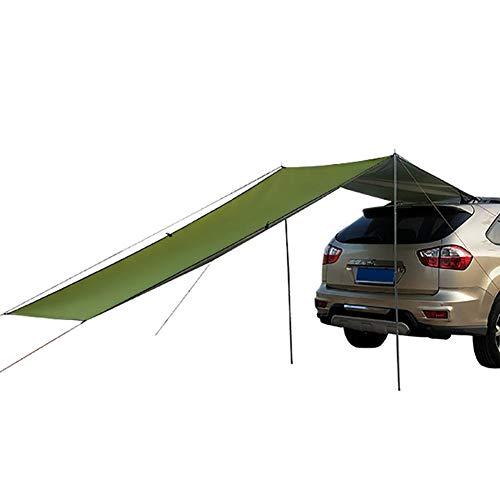 Cuenta De Auto para Acampar Toldo Coche Sun Shelter Impermeable Auto Canopy Camper Trailer Tent Tailgate Toldo Carpa En La Azotea para SUV, Hatchback, Minivan, Sedan, Camping, Outdoor