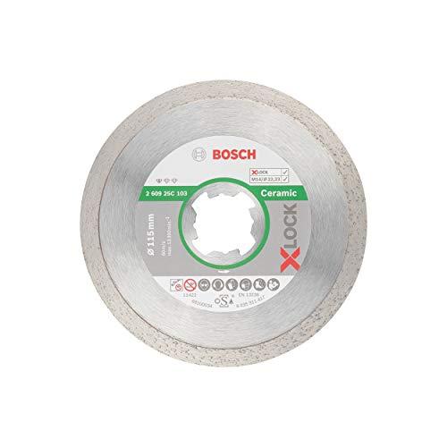 Bosch Professional Diamant Trennscheibe Standard for Ceramic (für Fliesen, X-LOCK, Scheibe Ø 110 mm, Bohrung Ø 22,23 mm, Dicke 1,6 mm, Zubehör Winkelschleifer)