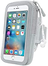 Workout Sports Gym Running Armband Bag Pouch Cell Phone Holder Earphone Hole for Galaxy S9 Plus/LG V40 ThinQ/Stylo 3 / G7 ThinQ / V35 / HTC U12 Plus/Xperia XZ3 / XZ2 Premium/Blu ViVo XL3 Plus S Grey