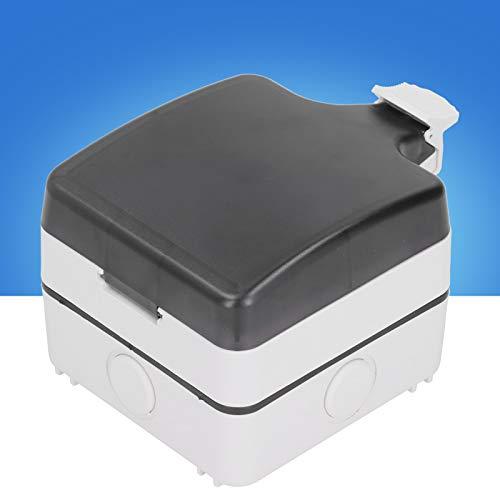 Caja de enchufes para exteriores Caja de enchufes a prueba de lluvia de 5 orificios Caja de enchufes IP66 Caja de enchufes duradera Caja de interruptores Baño Jardín para balcón