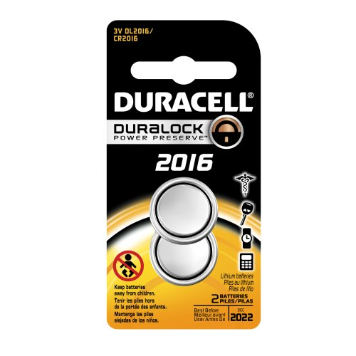 Price comparison product image Duracell DL2016B2PK08 Lithium Coin Battery,  2016 Size,  3V,  85 mAh Capacity (Case of 6 Cards,  2 Unit per Card)