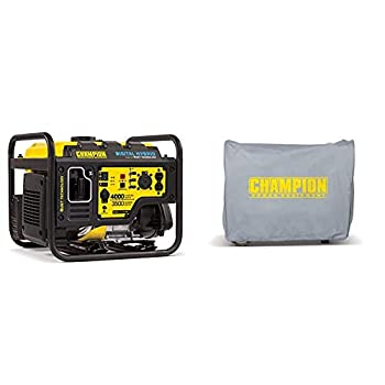 Champion 4000-Watt RV Ready DH Series Open Frame Inverter with Quiet Technology & Weather-Resistant Storage Cover for 3100-Watt or Higher Inverter Generators