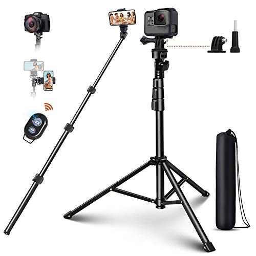 "Selfie Stick Tripod, ELEGIANT 51"" Extendable Cell Phone Tripod Stand with Bluetooth Remote Compatible with iPhone 11 11PRO XS Max XS XR X 8P Android, DSLR, Gopro, for Selfies/Vlogging/Live Streaming"