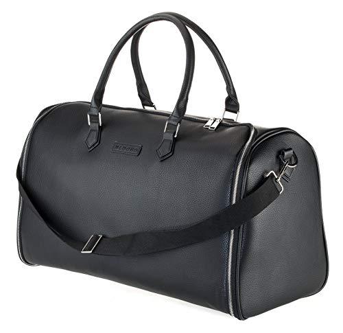 WLDOHO® 2in1 Anzugtasche Reisetasche für Business Reisen und Handgepäck I Kleidertasche für Anzüge mit Schuhfach, Inklusive Tragegurt (Schwarz)