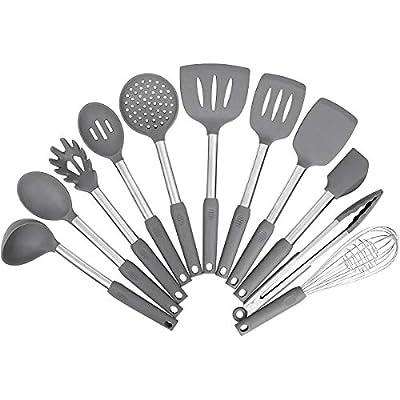 Kitchen Utensil Set,Silicone Cooking Utensils,Stainless Steel Kitchen Utensils Set,Silicone Spatula Set Utensil Set,Silicone Utensils Cooking Utensil Set,Kitchen Tools Gadgets
