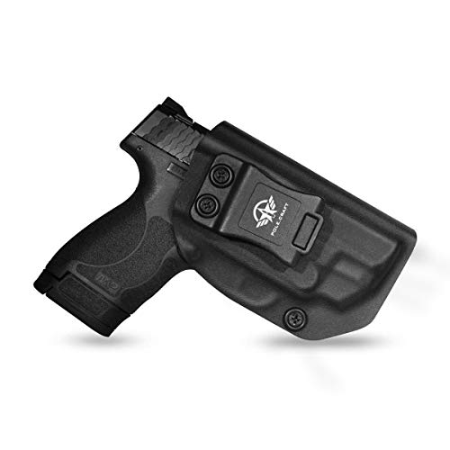 M&P Shield 9mm Holster IWB Kydex For Smith & Wesson M&P Shield 2.0 9mm 40 S&W With Crimson Trace Laser Integrated CT Laser Inside Waistband Carry Concealed Holster Gun Accessories (Black, Right Hand)