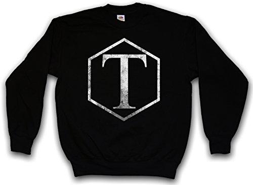 Urban Backwoods Vintage Torchwood Classic Logo Sweatshirt Pullover Sweater Pull Noir Taille 2XL