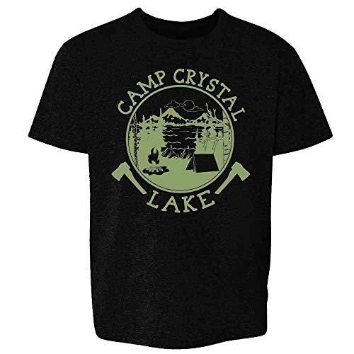 Pop Threads Camp Crystal Lake Counselor T Shirt Horror Costume Black M Youth Kids Girl Boy T-Shirt