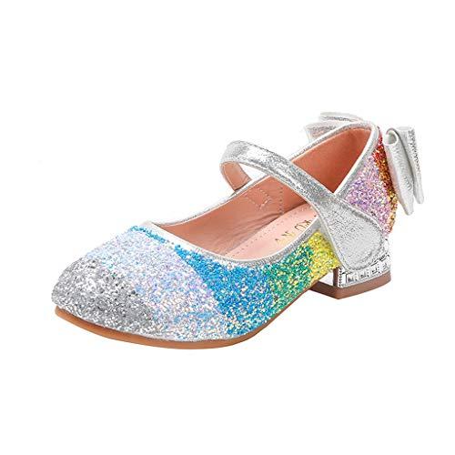 Fenverk Kinderschuhe MäDchen Sandalen Kindersandale Geschlossene Leder Innensohle Sandale Sommer Sandaletten Lauflernschuhe Schuhe(Weiß,28)