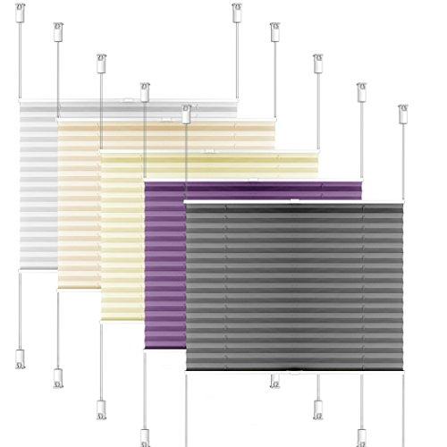 SIENOC Plissee Klemmfix Fenster Plissee Rollo Sonnenschutz Ohne Bohren Rollo Fenster & Türen inkl. Zubehör (Weiß, 70x130 cm)