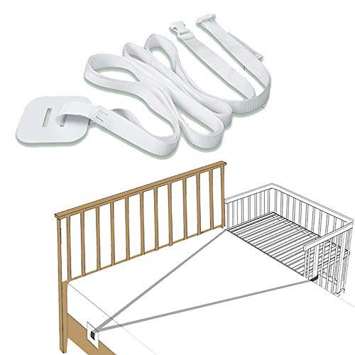 Gurt für Babybett, Langer Gurt 6m für Side-by-Side Bett zum Andocken an das Erwachsenenbett, Beistellbett Befestigung, Beistellbett Gurt, Gurt für Boxspringbetten