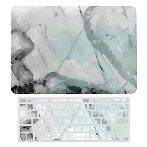 Laptop Screen Case for MacBook Air 13 & New Pro 13 Touch, Abstract Marble Keyboard Cover Screen Protector Shell Set