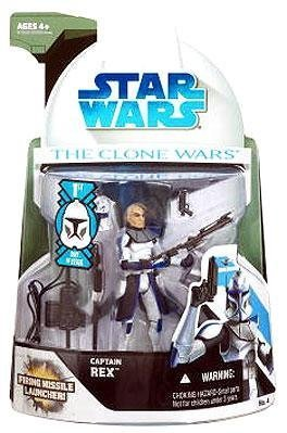 Star Wars 2008 Clone Wars Animated Action Figure No. 4 Captain Rex [First Day of Issue] by Hasbro