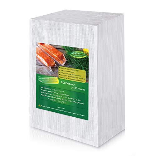 Bolsas de Vacio para Alimentos, 150 Bolsas 20x30cm (0.65'x0.98') Bolsas de Vacío de...