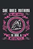 She does nothing She just wants to ride motorcycle: I Cuaderno I Cuaderno I Motocicleta I Motocicleta I Motociclista I Cuadrícula de puntos I a5 ... I Cuaderno de escritura I Diario I Regalo