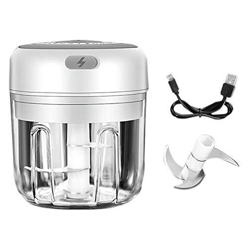 DYHF Hachoir à ail électrique, Mini Robot culinaire, Presse-ail Rechargeable USB avec Lame tranchante, Super Gadgets de mixeur de Cuisine adaptés à lail/Fruits/légumes
