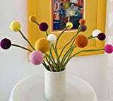 Én Gry & Sif - Filzblumen Strauß Blumen aus Filz - Blumenstrauß - Fair Trade - handgemacht (Sonnenschein) - 4