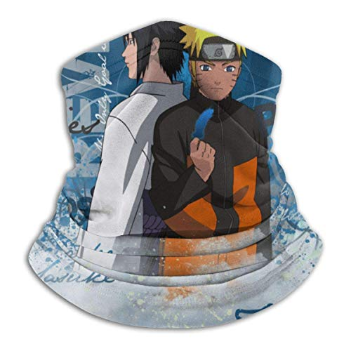 Night-Shop Anime Naruto Tube Neck Warmer Weiche Kopfbedeckung Face Scarf Cover Shield für kaltes Wetter Winter Outdoor Sports Schwarz ~ A1W9