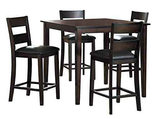 Homelegance Griffin 5-Piece Counter Height Dining Set, Espresso