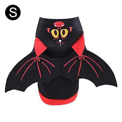 voloki Pet Fledermaus Flügel Kostüm Fledermaus Flügel Halloween Weihnachten Hunde-Bekleidung für Cat & Dog Pet Kleidung Kleidung für die Halloween-Party-Katze Pet Supplies Kostüme Lustige Big Sale