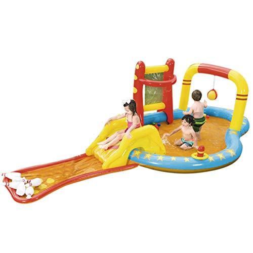 Nrkin Piscina hinchable para niños – Platillo hinchable de conflicto, centro de juego para niños, centro de juegos hinchable, parcela, parcela, patio trasero