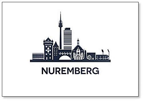 Kühlschrankmagnet Skyline Nürnberg Classic