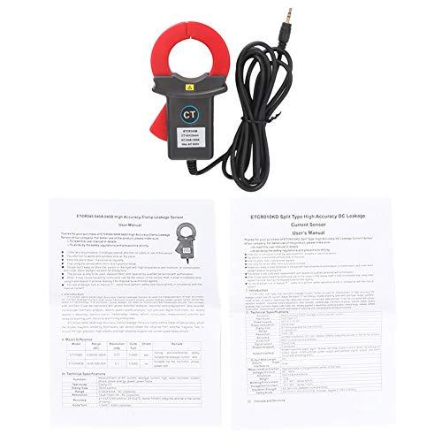 Sensor de corriente de pinza, ETCR040B Detector de fugas del sensor de corriente de pinza para multímetro de banco industrial eléctrico y de comunicación