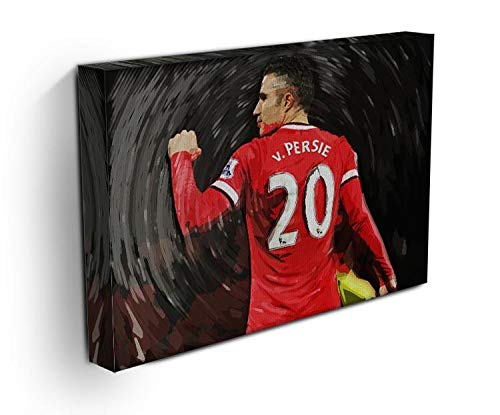 Robin Van Persie Man United Stretched Canvas Print 30cm x 20cm