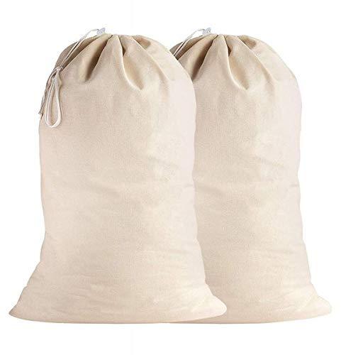 SweetNeedle - Pack de 2 - 100% algodón Bolsas de lavanderí