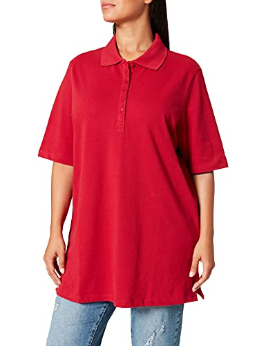 Ulla Popken Polopiquee, Camiseta de Manga Corta para Mujer, Rojo (Rot 51), 64