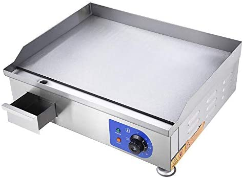 WeChef 24 2500W Electric Countertop Griddle Stainless Steel Adjustable Temp Control Commercial product image