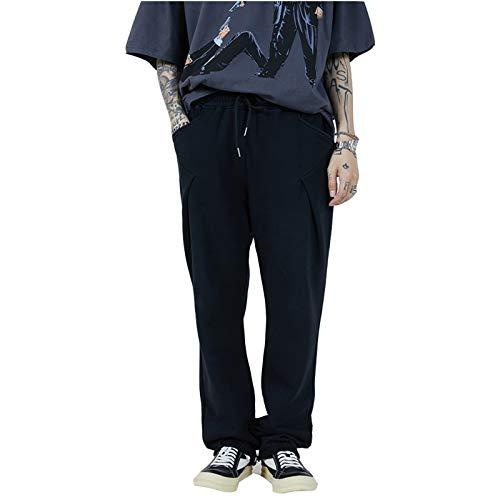 XiuLi Pantalones de chándal básicos Casuales para Mujer Pantalones de Ocio Pantalones de Entrenamiento de Cintura Alta con puños (Color : Gray, Size : M)