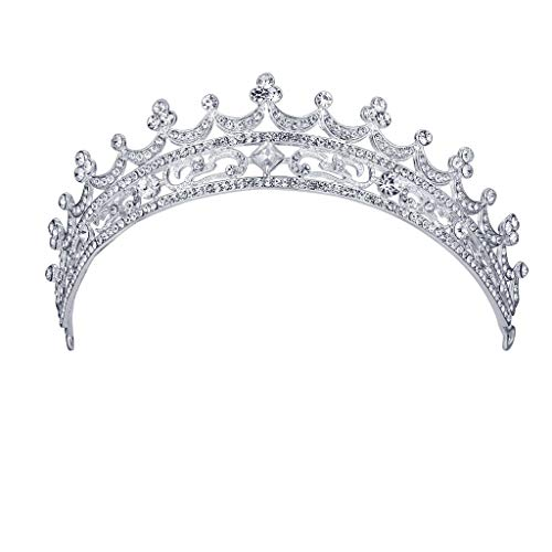 Holzkary Bridal Hairband Bridal Crowns Headband Crystal Tiaras for Wedding Faux Pearl and Rhinestone Headpiece Hair Accessories(Silver-1) Butterfly Design Cake Knife