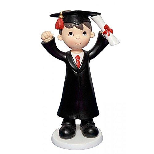 Figura Cerámica Niño Graduado - Regalos para Graduados, Graduaciones