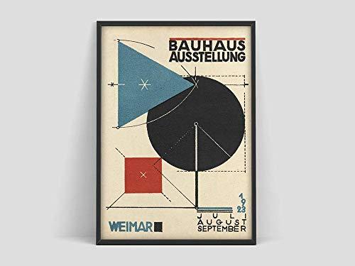 Póster de la Bauhaus Weimar Austellung, impresión de la exposición de la Bauhaus, Herbert Bayer, impresión de la Bauhaus, pintura en lienzo sin marco Q-91 50x75cm
