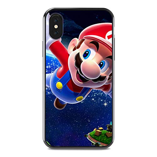 Super Mario - Langlebig hartplastik stoßfest Handy case für iPhone 6/6 s iPhone 7/8 iPhone x/xs iPhone xr cool Anime Geschenk (iPhone XR, Super Mario Galaxy)