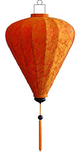 Couleur : soie by lampionsenzo lampion boule orange