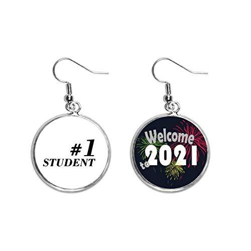Numero 1 - Colgante de oreja con cita para profesores y estudiantes, 2021 bendición