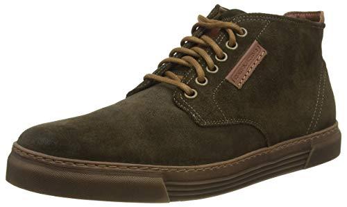 camel active Herren Racket 20 Hohe Sneaker, Braun (Military (Caramel) 16), 44.5 EU (10 UK)