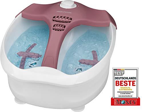 ProfiCare PC-FM Fußmassagegerät, beheizte Fußauflage, intensiver Whirpool-Effekt, 4-Stufenschalter, Anwendung mit und ohne Wasser möglich, 330270, Weiß, Rot