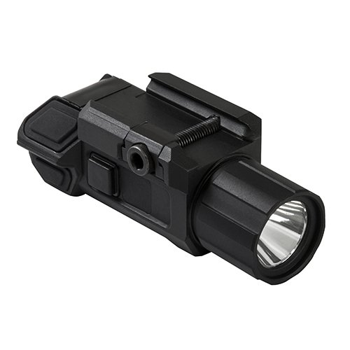 NC Star VAPTF Pistol Flashlight with Strobe, 3 W Ultra Bright, 200 lm, Strobe