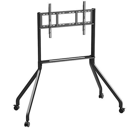 Acero inoxidable de TV Soporte de suelo con capacidad for almacenar 40-85 Pulgadas TV, TV Negro Soporte de suelo ajustable en altura hasta 70KG de inclinación ajustable en altura ( Color : Style#3 )
