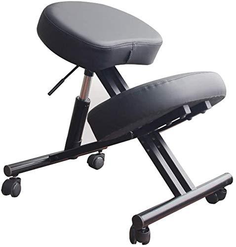 Ergonomische Knielen Stoel Voor Heavy Duty Steel, Lederen Kussen, Rolling Verstelbare Bureau Kruk, Verbeteren Van De Houding, Voor Home & Office