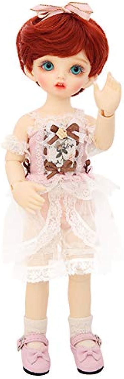 ZYLBS BJD Puppe Rot Kurzes Haar Vorzüglich Prinzessin SD 1 6 Eine vollstndige Reihe von Joint Puppen kann Kleidung Schuhe Dekoration ndern