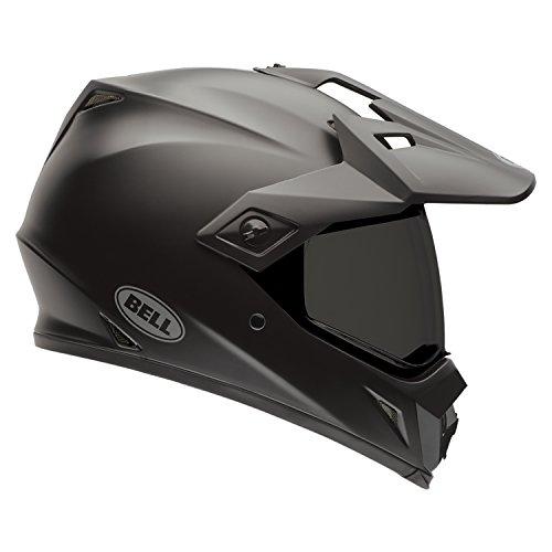 Bell Powersports MX-9 Adventure Motorradhelm, Schwarz (Solid Matte Schwarz), XS